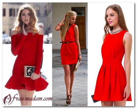 красные платья лето
