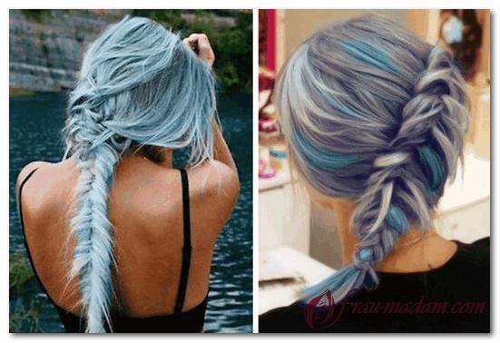 Ультрамодная покраска волос – цветной меланж