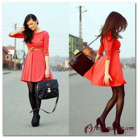 красные платья на каждый день