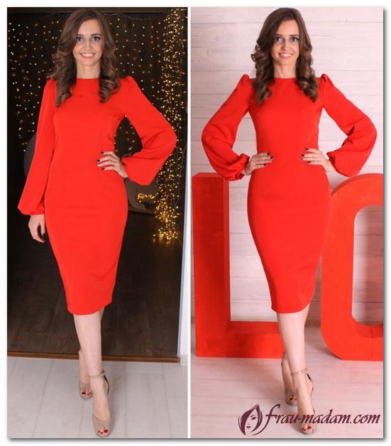 красное платье классика
