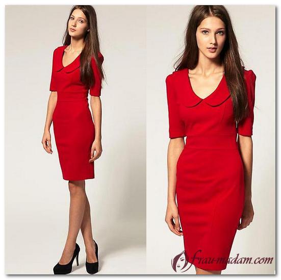 повседневные красные платья