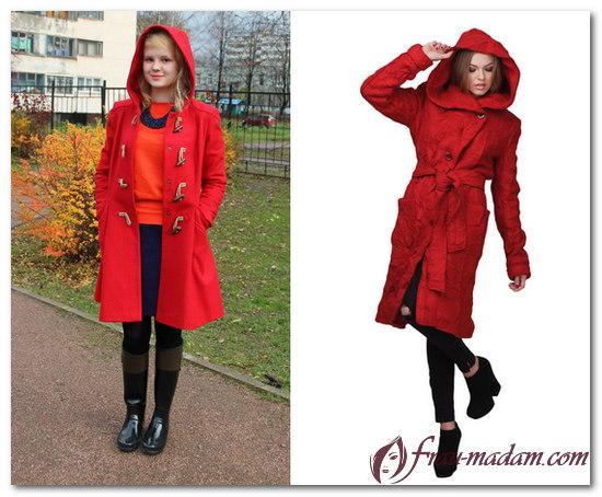 красное пальто 2017