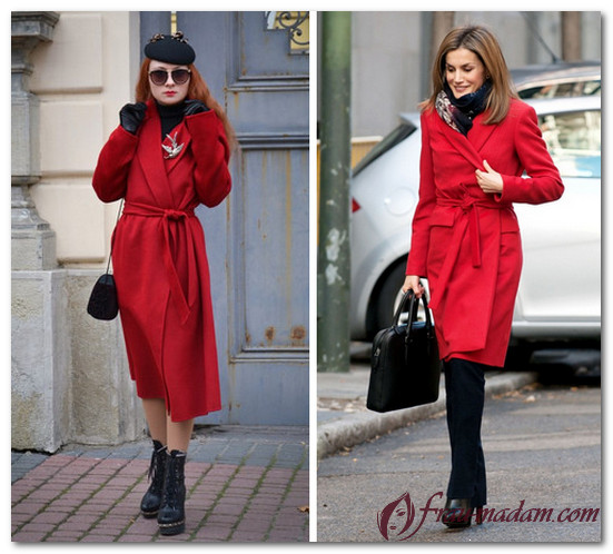 образ с красным пальто