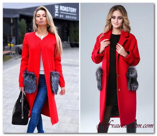 красное пальто в 2017
