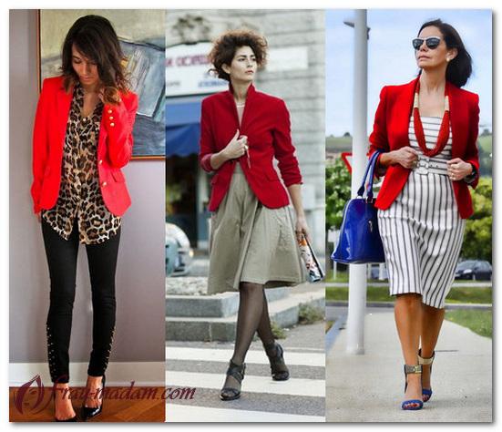 с чем носить красный жакет