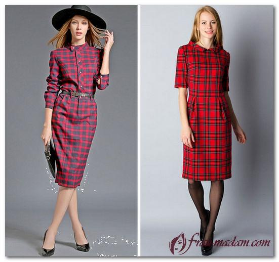 модное красное платье 2016 фото