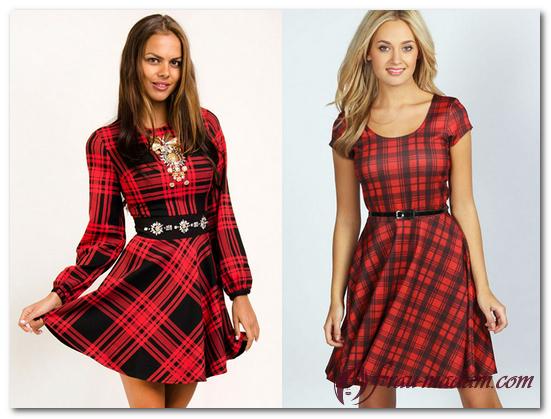модные красные платья