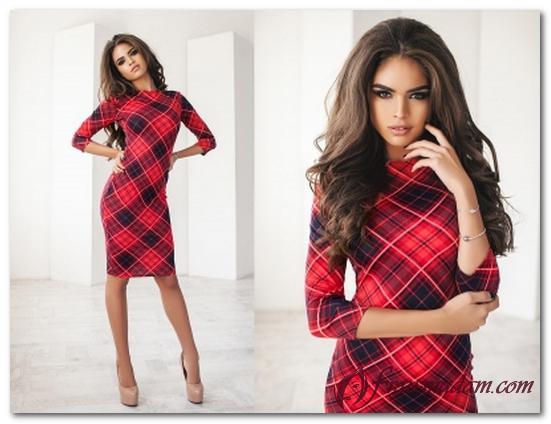 модели красных платьев фото
