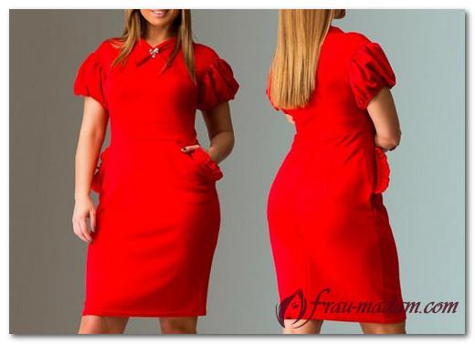 Красные платья для полных девушек и женщин