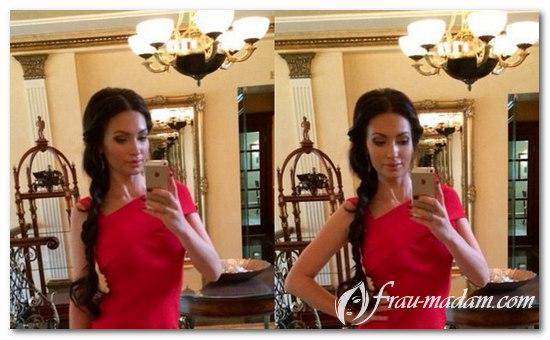прически под красное платье в пол