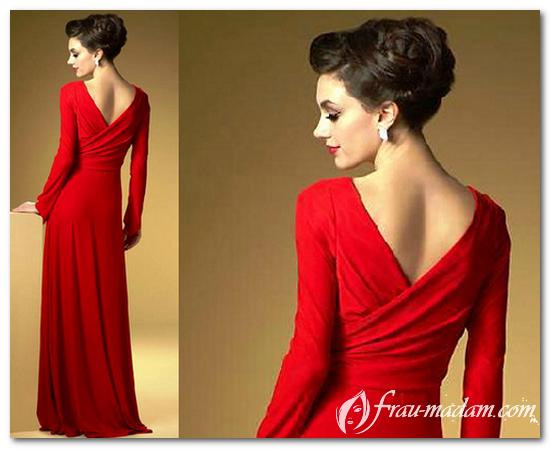 какие прически подходят под красное платье в пол