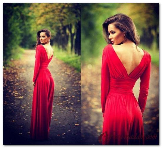 красное платье с открытой спиной обувь