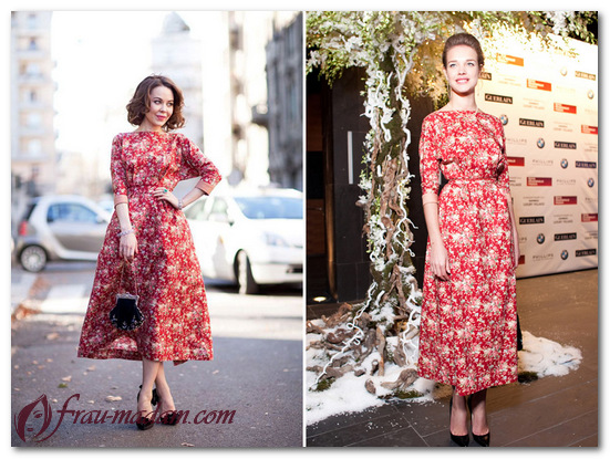 Как правильно выбрать длину красного платья в цветочек