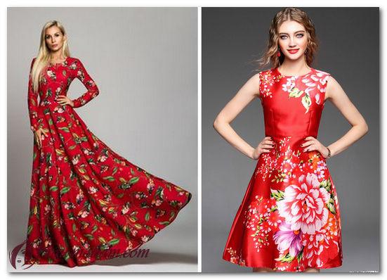 с чем носить платье в цветочик