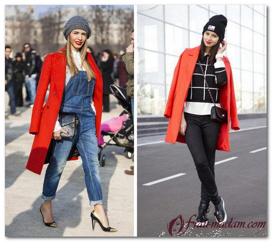 шапка под красное пальто