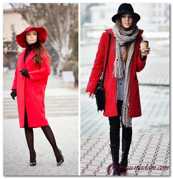 шляпа к красному пальто