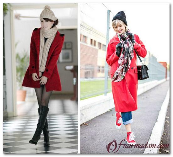 головные уборы к красному пальто