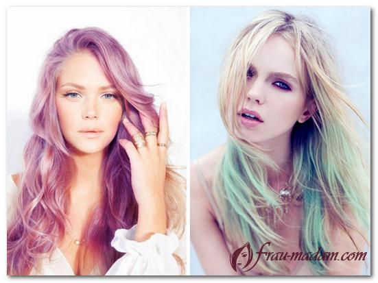 модное окрашивание светлых волос 2017