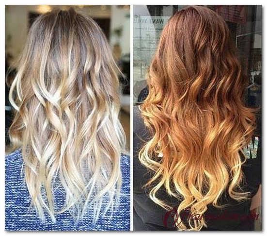 Покраска кончиков волос в русый цвет