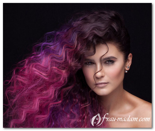 Как сделать красивые цветные волосы: техники, фото?