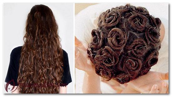Как завить средние волосы на ночь с помощью спиральных пучков