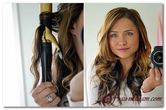 Как завить только кончики волос