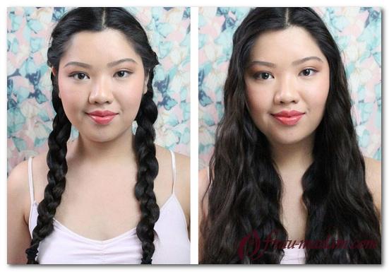Как сделать волнистые волосы с помощью косичек 938