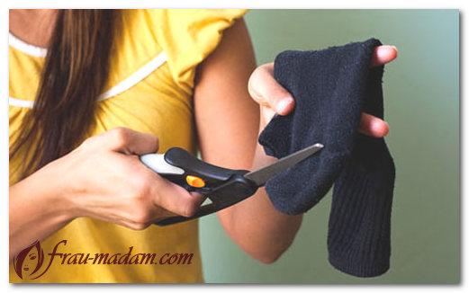 Как сделать валик из носков