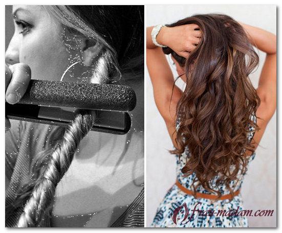 Как сделать волосы при помощи утюжка 854