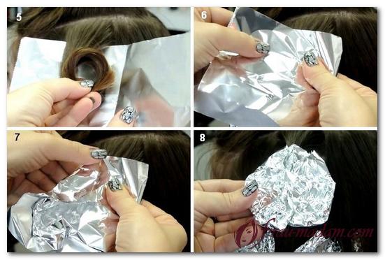 Как сделать локоны с фольгой фото 370