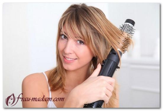 Как делаются вьющиеся волосы до плеч с помощью фена