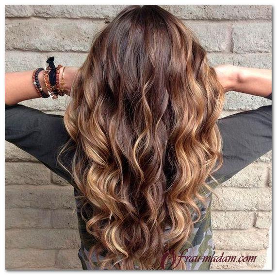 Кучерявые волосы окраска