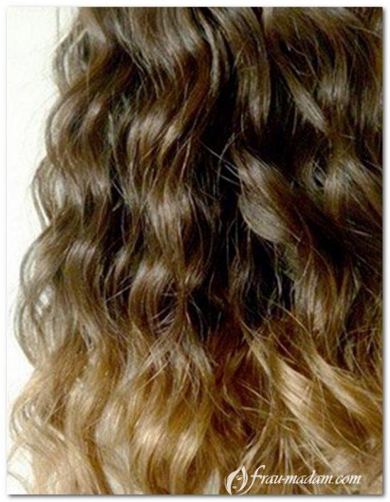 Омбре на волнистые волосы
