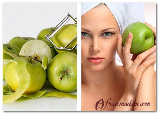 серый цвет лица маска яблоко