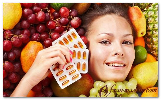 продукты и витамины для кожи лица
