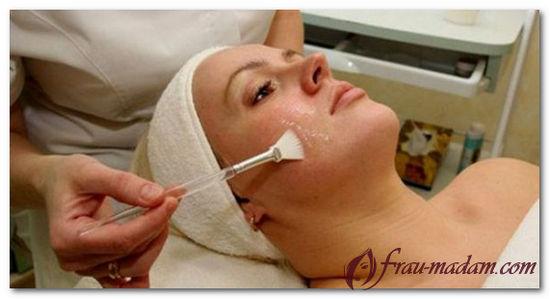 действие пилинга на кожу лица
