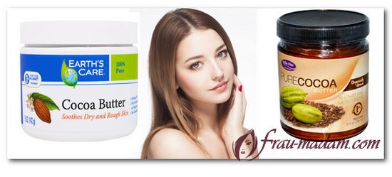 польза какао-масла по уходу за лицом и волосами
