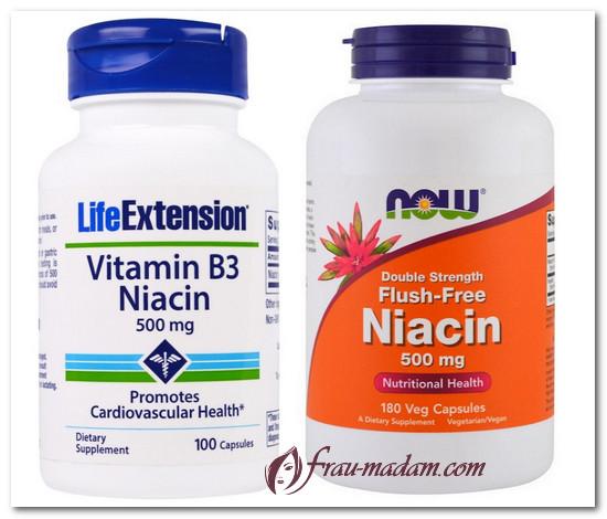 полезные свойства витамина группы В - В3(ниацин) вредные свойства витамина группы В - В3(ниацин)